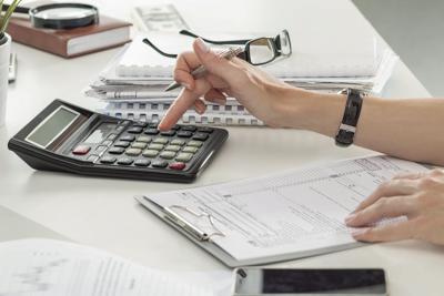 tax calculator stock image