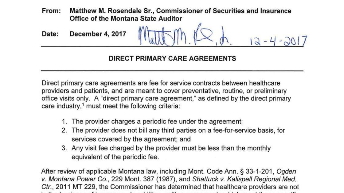 Direct primary care, twice vetoed by governor, advanced by