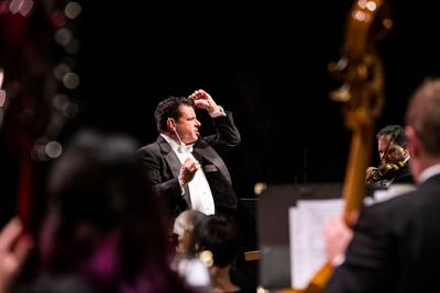 Allan R. Scott conducts the Helena Symphony in this provided photo.
