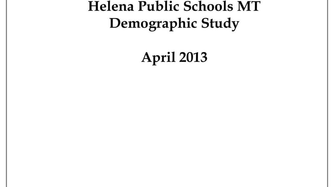 Helena Public Schools demographic report contains Billings
