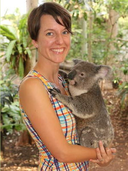 Jenny Eck and koala