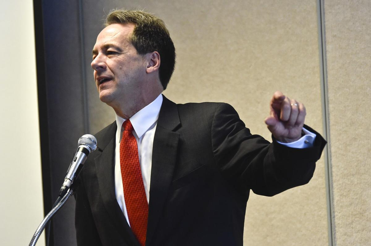Gov. Steve Bullock speaks at a conference on the opioid epidemic