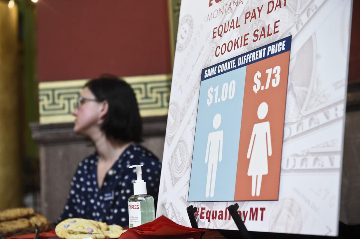 An equal pay cookie sale advertises a lower cost per cookie for women