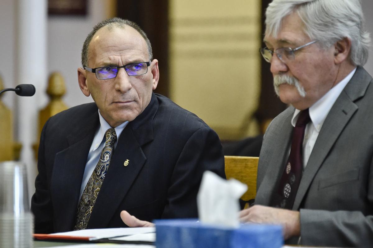 Gregg Robert Trude, 62, left, appears in court