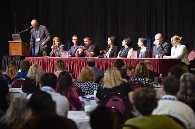 A panel of experts hosts a Q&A session at the Montana Conference on Suicide Prevention