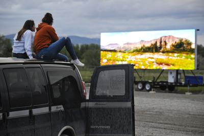 Hundreds turn out for drive-in movies in Helena