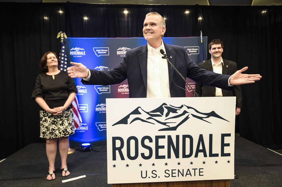 Matt Rosendale addresses supporters Tuesday night