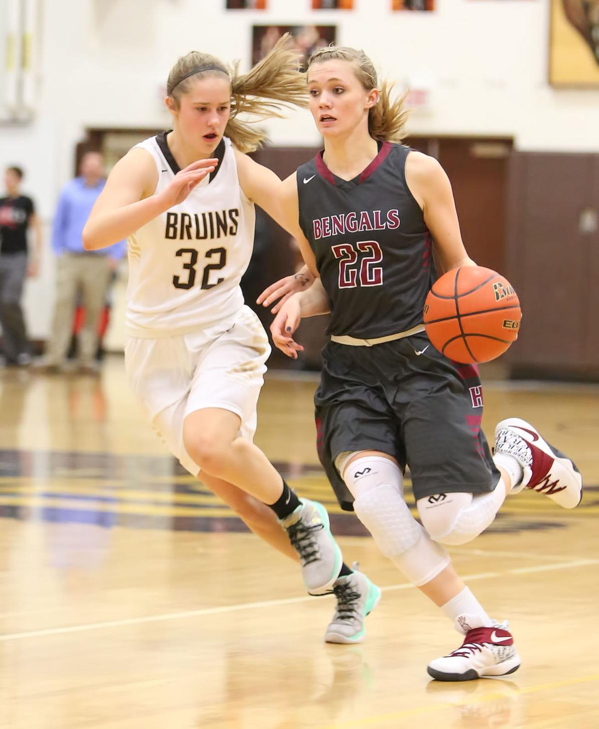 girls basketball; HHS vs CHS