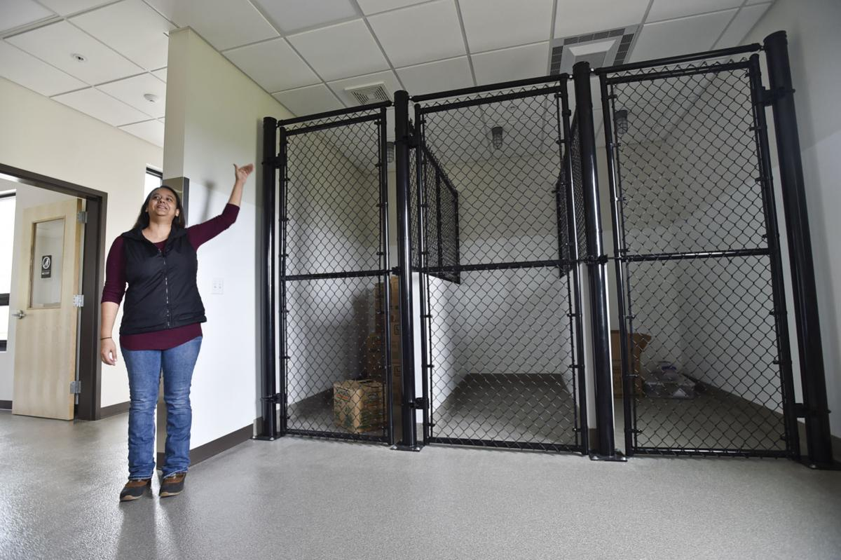 Dee Villalta, Director of the new Perkins Call Canine Center on the Carroll College campus,