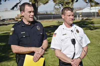 City officials recently announced Police Chief Steve Hagen, left, and Fire Chief Ken Wood