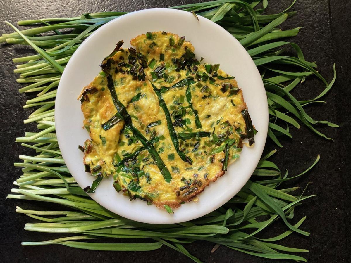 Chive Nest Omelet Pancake