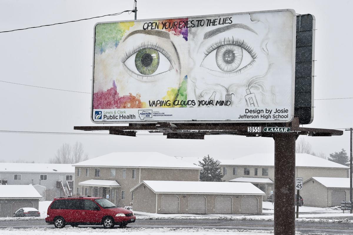 A billboard outside East Helena,