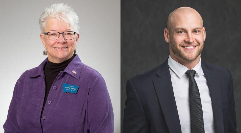 Sen. Diane Sands (L) Chase Reynolds (R)