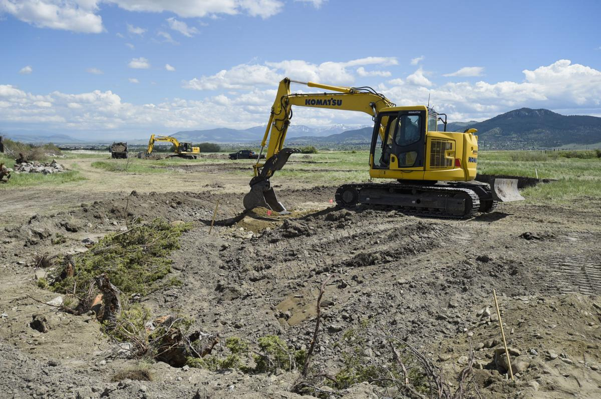 Work is done to restore the natural meander of Sevenmile Creek