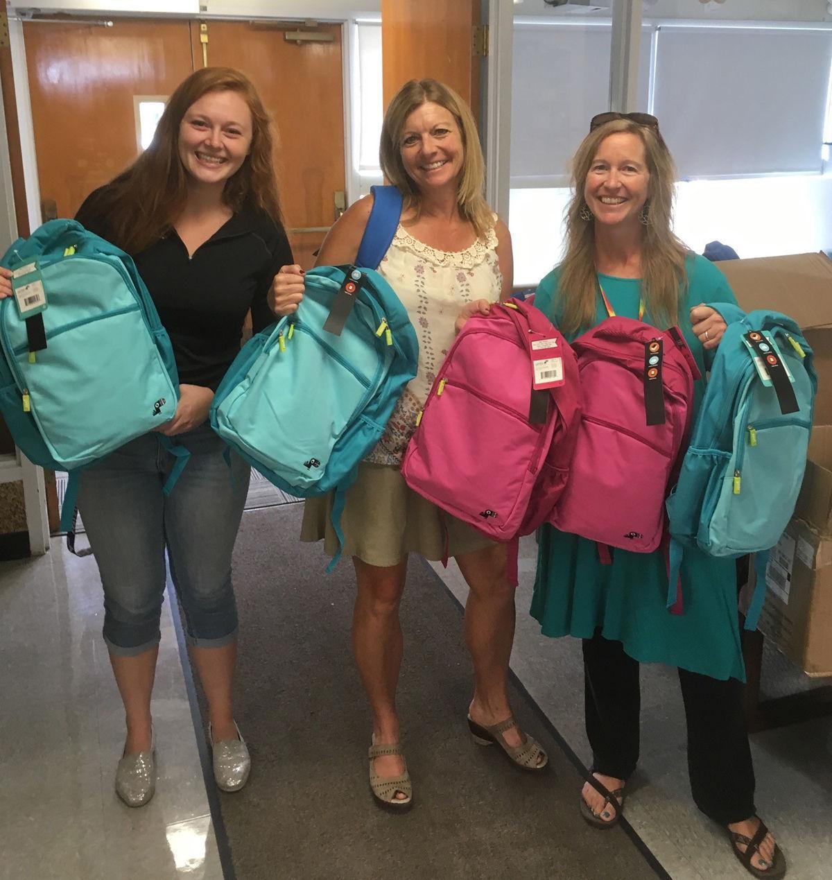 Credit union donates backpacks