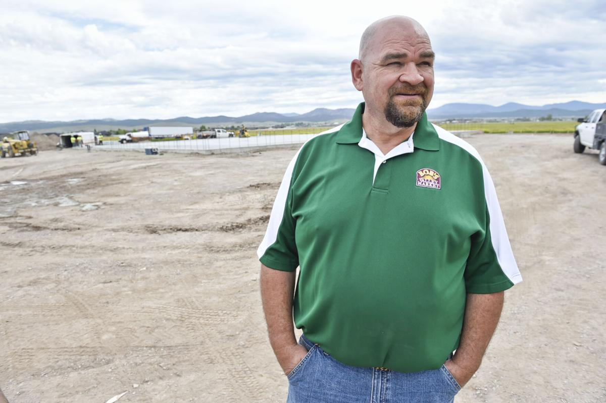 Steve Bartmess, who owns Bob's Valley Market with his family, talks about the inspiration to build an Ace Hardware store in the North Valley Friday.