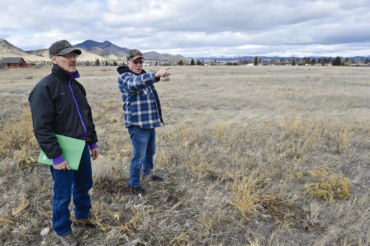 Archie Harper, left, and Ed Sherman, who live near a proposed gravel pit