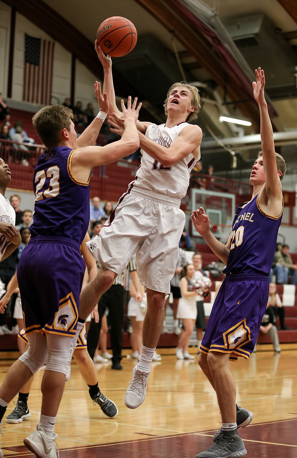 boys basketball; HHS vs Sentinel