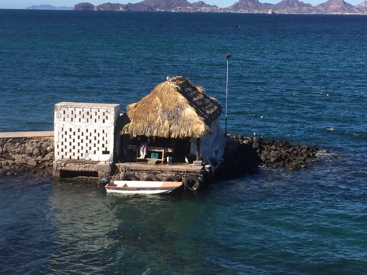 A palapa at sustainable pearl farm in Guaymas, Mexico.