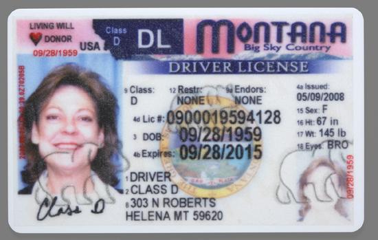 com License Driver's Helenair Montana Design New Unveils State