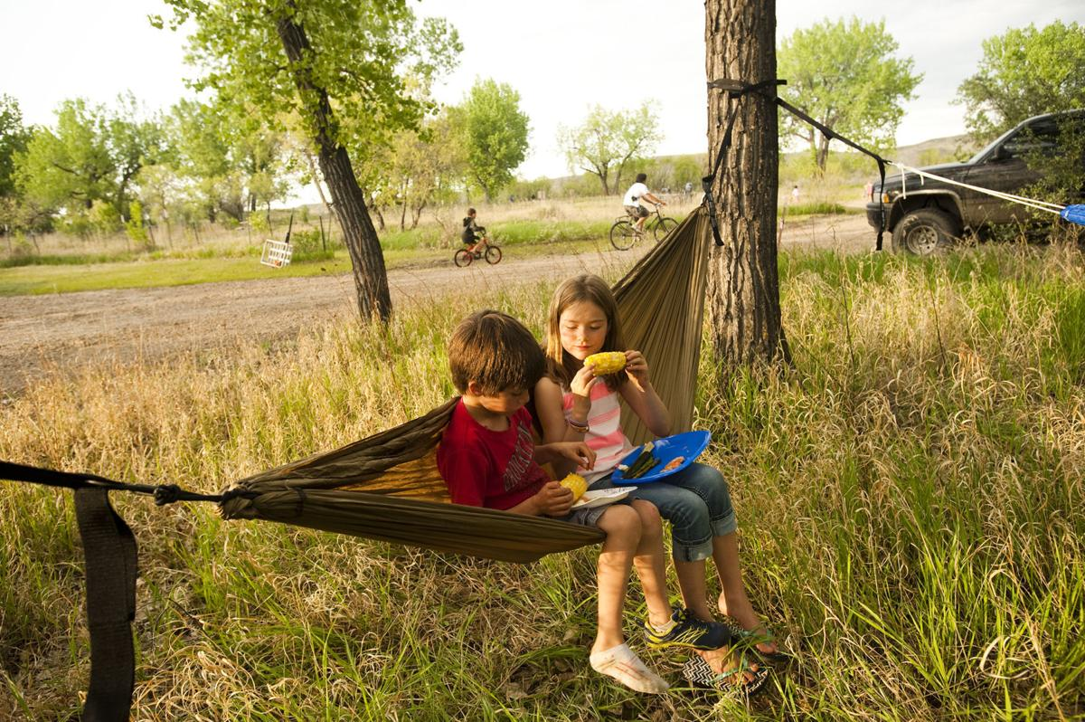 Family Fort Peck getaway is made complete with fishing, boating and campfire cooking
