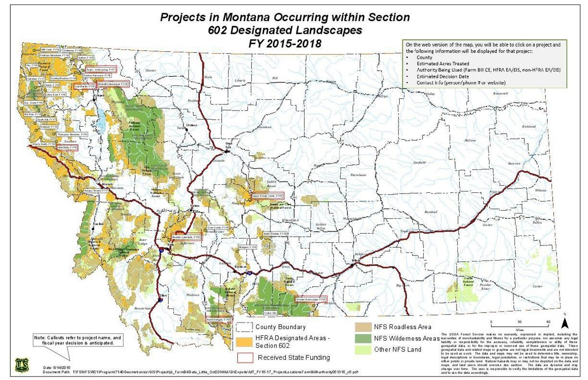 Montana priority forest map | | helenair.com