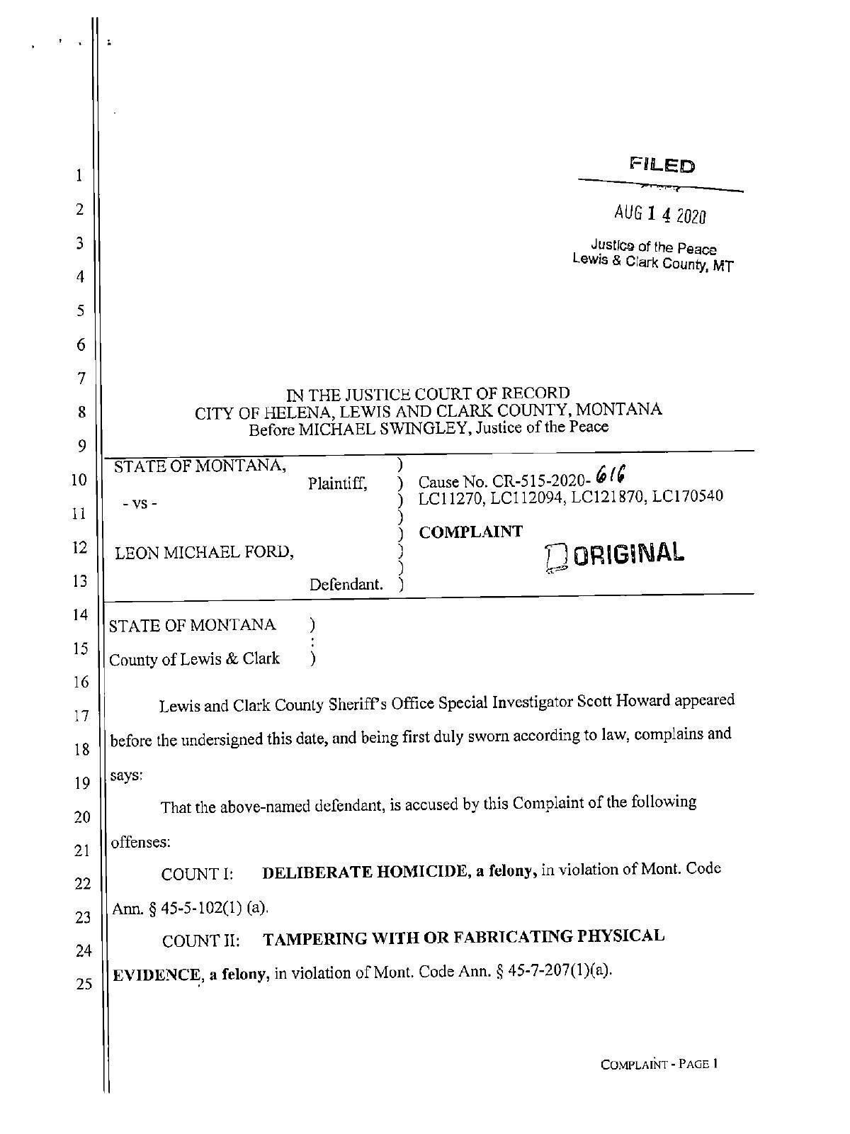 Mike Crites affidavit