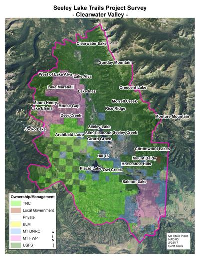 Seeley Lake Trails Project map
