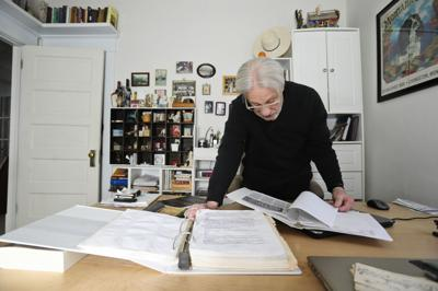 Barry Ferst reviews some of his research notes