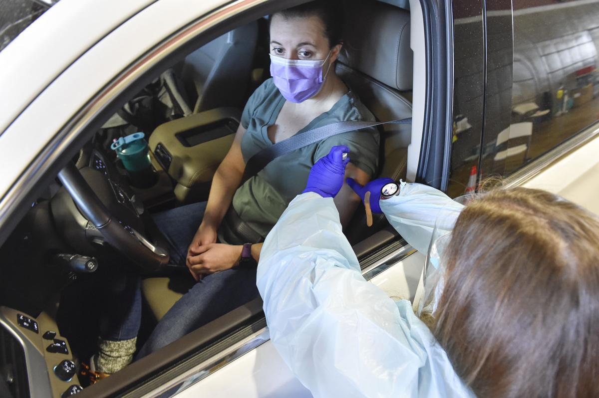Drive-thru Covid-19 vaccine clinic