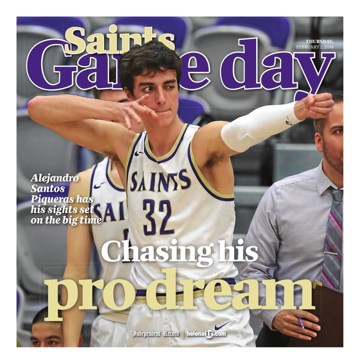 Carroll College Saints Basketball Game Day - February 1, 2018