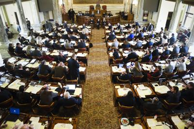 The full assembly of the state House of Representatives during the special legislative session.