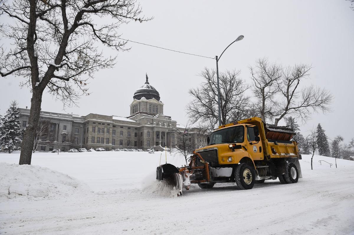 Winter storms dump snow on the Capital city