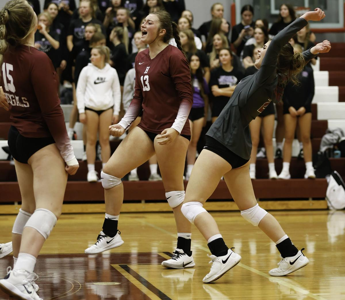 Helena volleyball versus Butte 2021