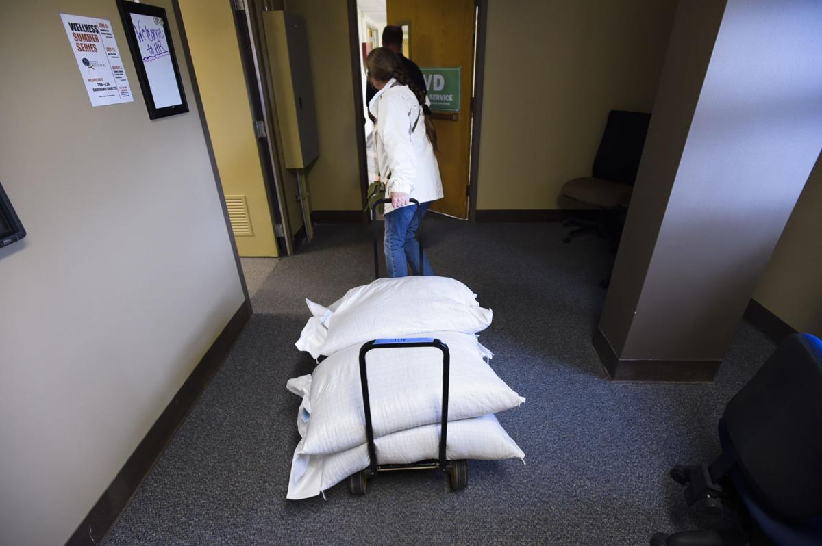 Phillips wheels her industrial hemp seeds through the Department of Agriculture Monday afternoon. (copy)