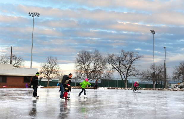 Memorial Park Ice Rink Warming House Opens