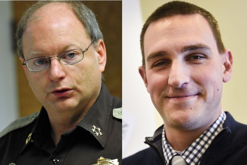 Sheriff Leo Dutton, left, and Coroner Bryan Backeberg