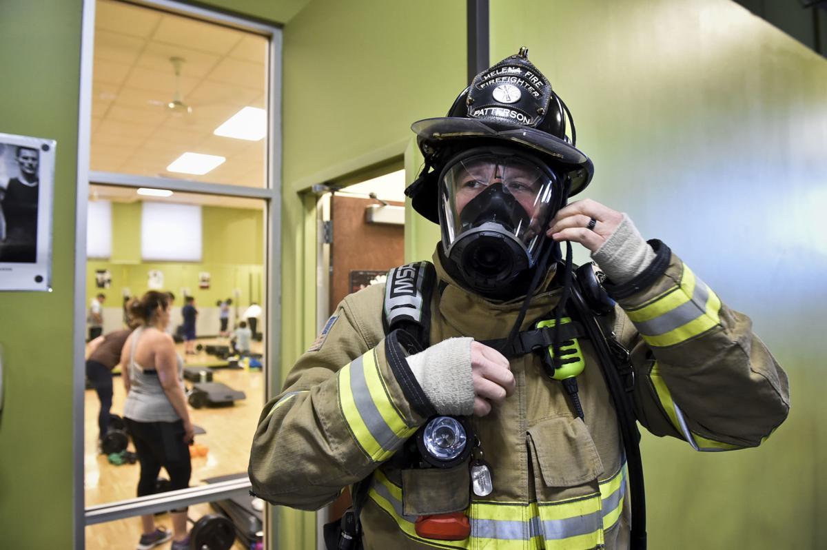 Helena firefighter Brad Patterson