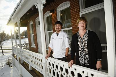 Marci Anderson, owner of Wassweiler Dinner House and Pub, right, and Andrew Brosten, head chef at Wassweiler,