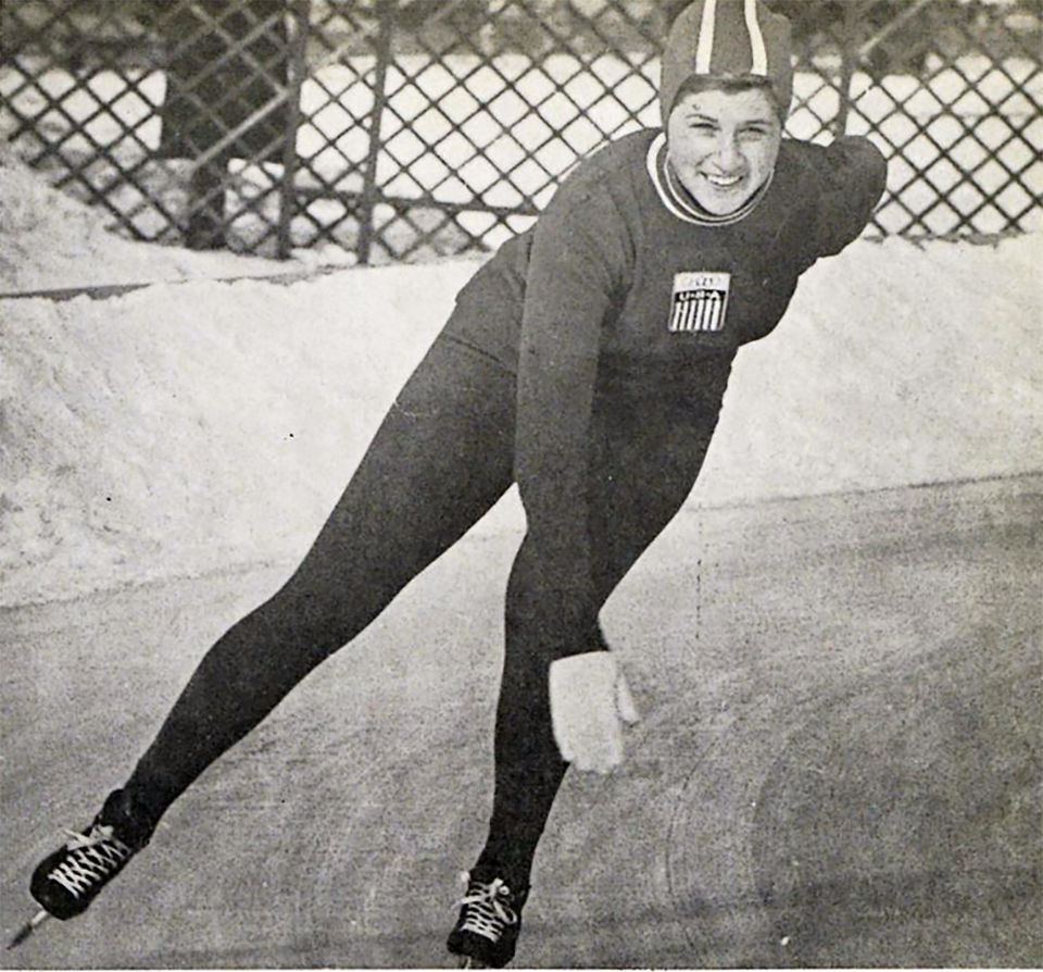 Judy Martz speed skating