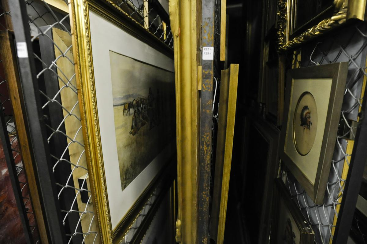 Some of the museum's most valuable pieces hang in the basement.