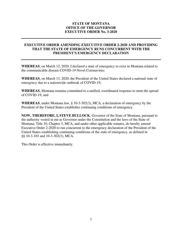 3/14/20 Amending Emergency Declaration