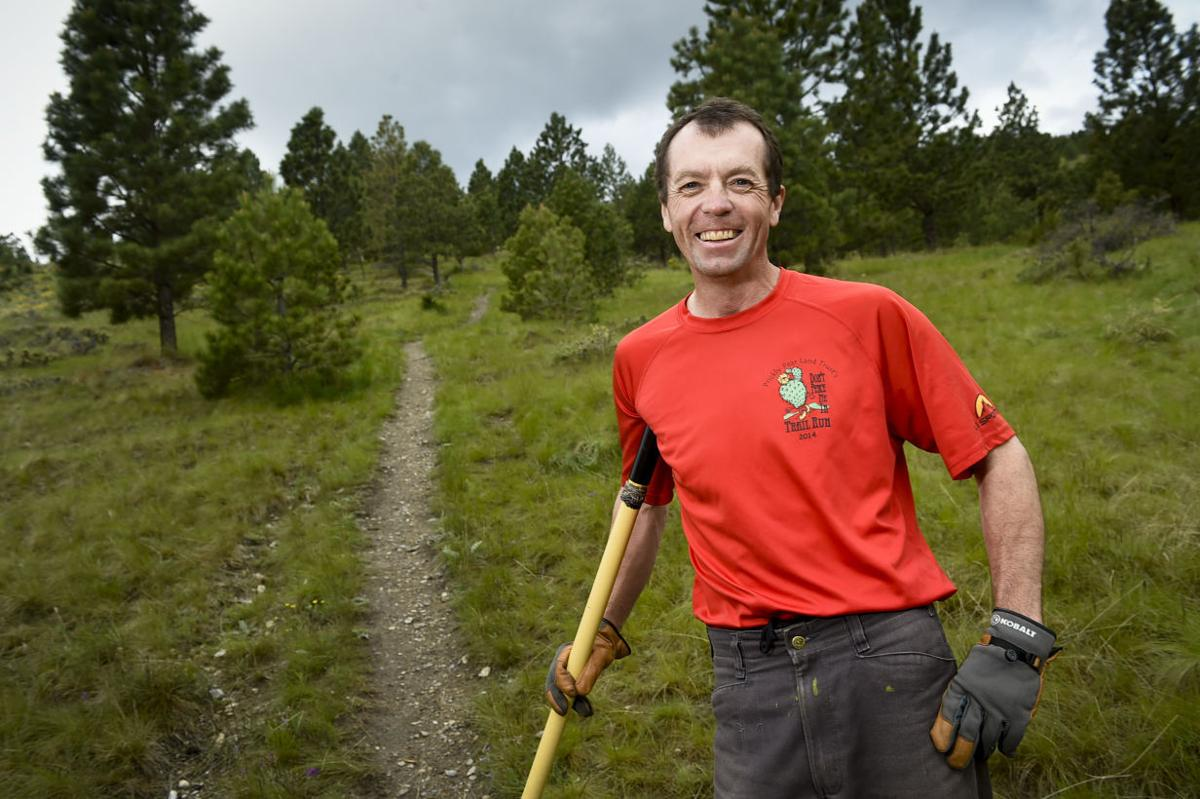 Emmett Purcell, trail assistant for Prickly Pear Land Trust