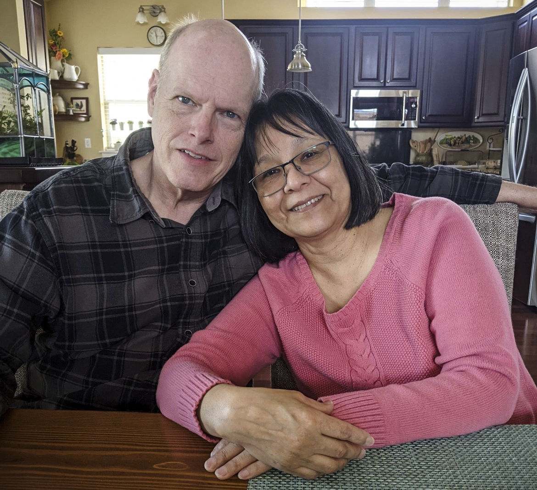 Maria Moeller and her husband Ron Moeller