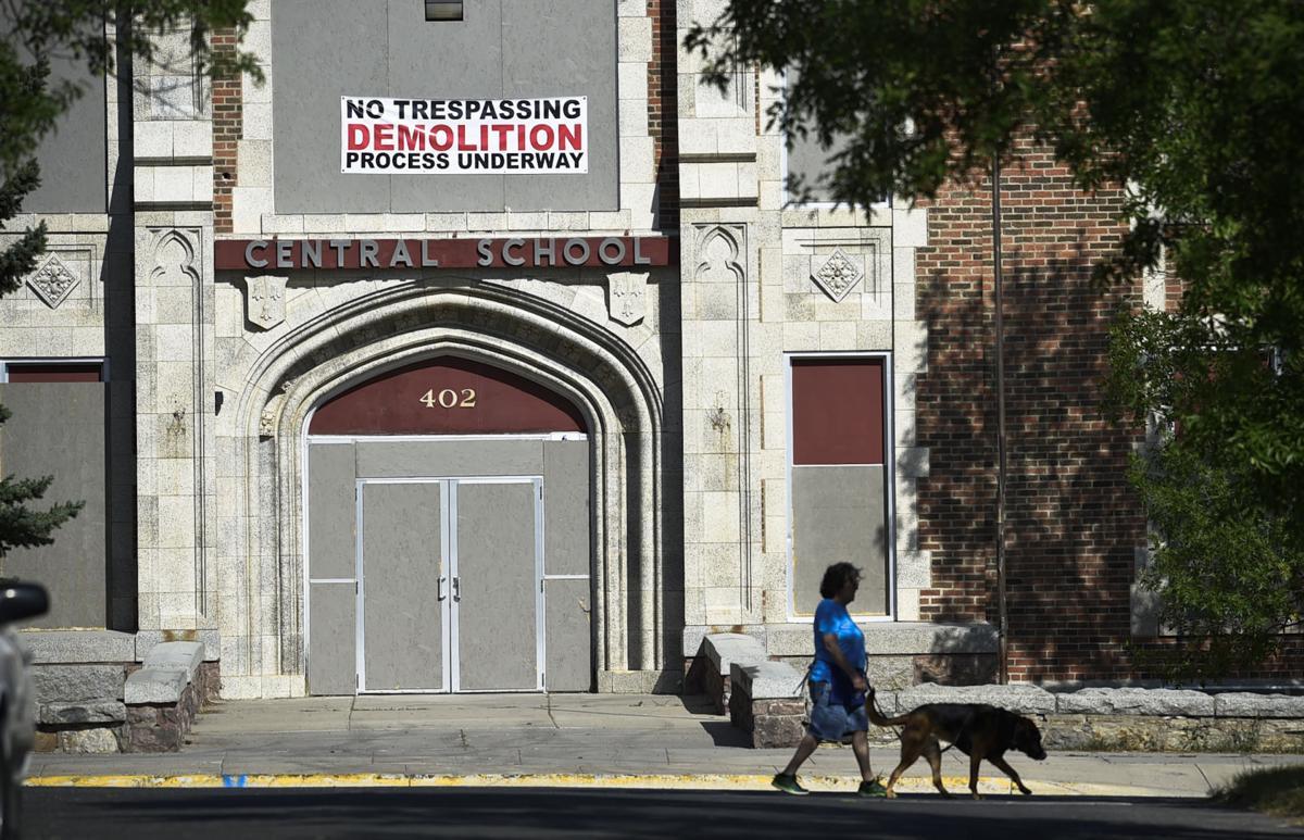 Central School Demolition sign
