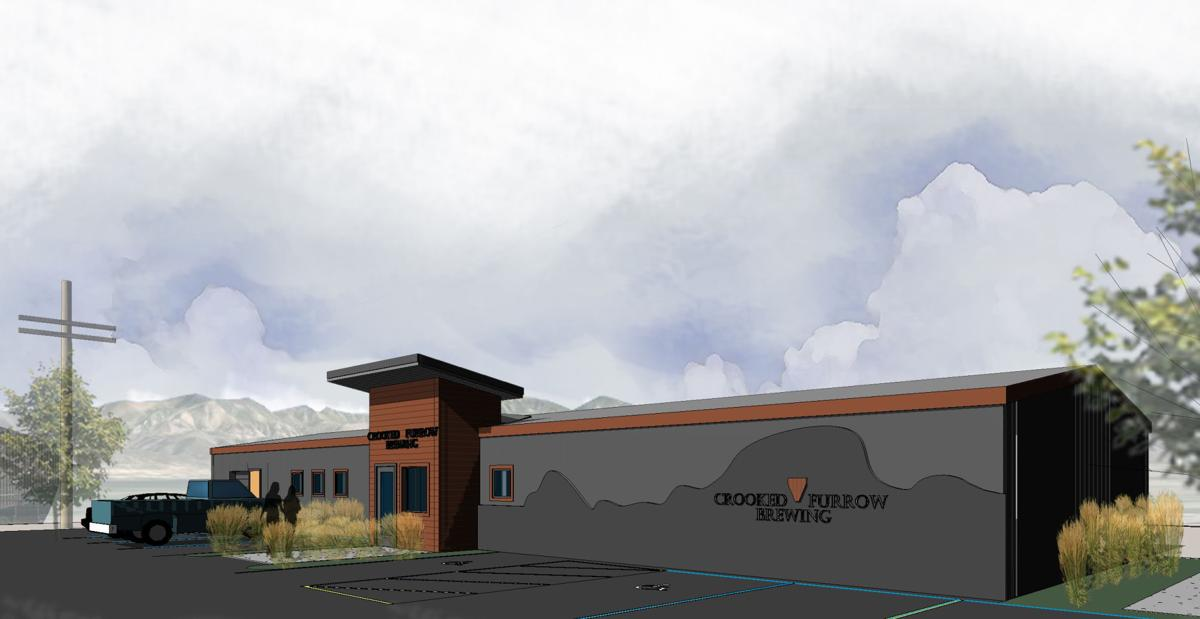 An architectural drawing of Crooked Furrow Brewing, Helena's newest craft brewery.