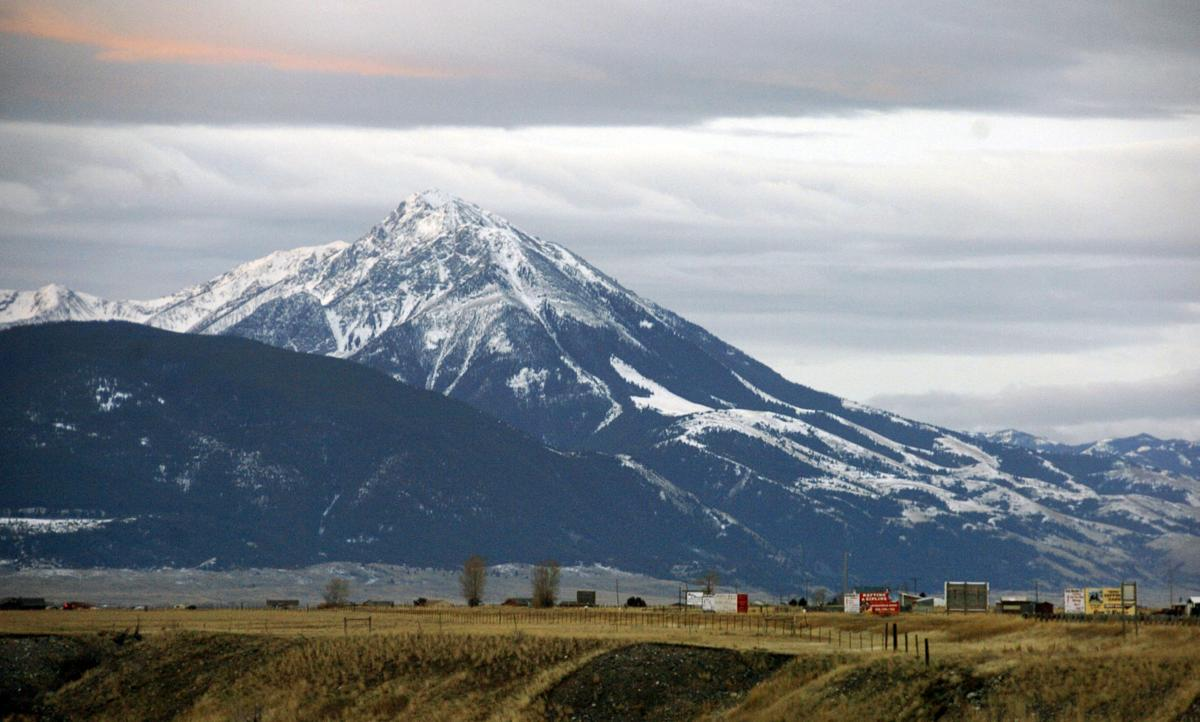 Emigrant Peak towers over the Paradise Valley in Montana