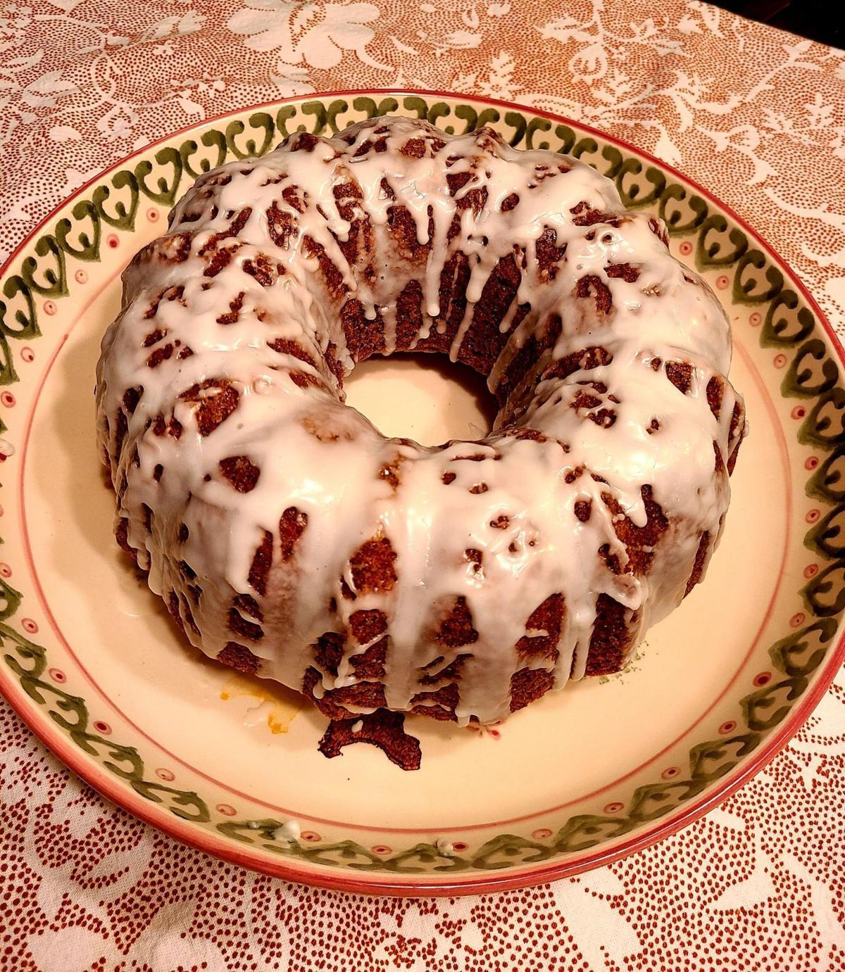 Carrot-Poppy Seed Bundt Cake with Lemon Glaze