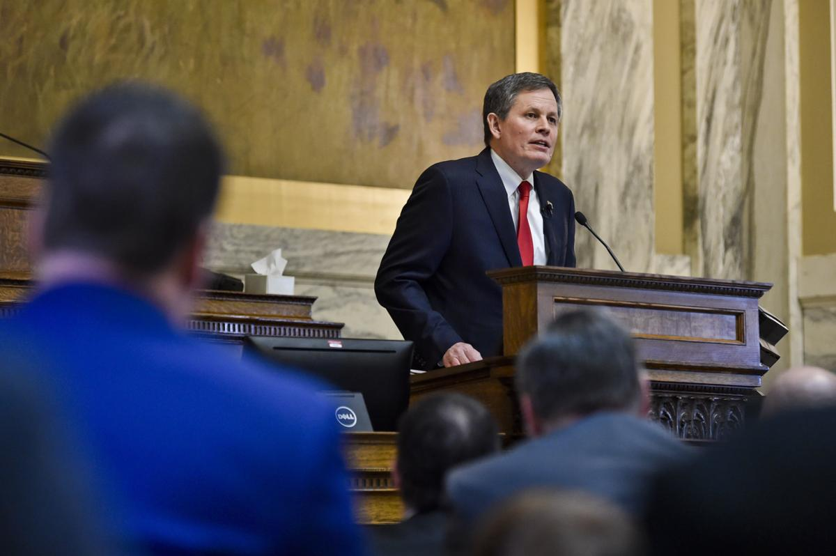 Sen. Steve Daines addresses the Montana House of Representatives