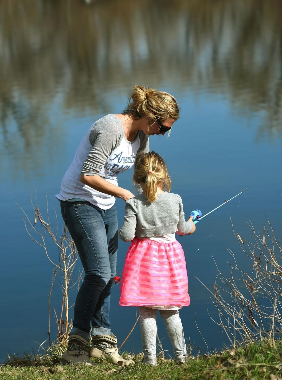 Riverfront fishing